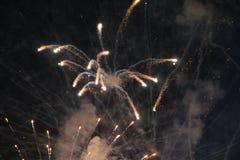 Groot vuurwerk Servië stock foto's