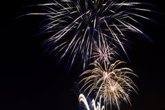 Groot vuurwerk tijdens festival in Zagreb, Kroatië royalty-vrije stock afbeelding