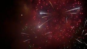 Groot vuurwerk van verschillende kleuren stock video