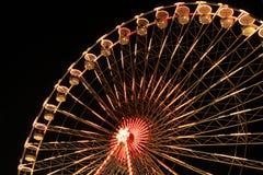 Groot wiel bij nacht Stock Fotografie