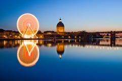 Groot wiel in de stadscentrum van Toulouse Royalty-vrije Stock Foto