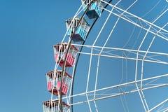 Groot wiel op blauwe hemel Royalty-vrije Stock Foto