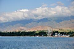 Groot wiel op het strand Stock Afbeelding