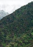 Groot windonweer in berg Stock Fotografie
