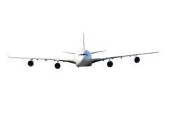 Groot wit vliegtuig Stock Foto