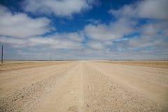 Groot zand en vlakke weg royalty-vrije stock foto