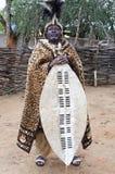 Groot Zulu King Royalty-vrije Stock Afbeeldingen