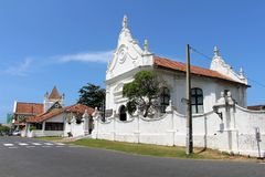 The Groote Kerk or Dutch Reformed Church within the Galle Fort stock photos