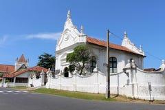 Grooten Kerk eller holländsk omdanad kyrka inom det Galle fortet royaltyfri foto
