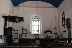 Grooten Kerk eller holländsk omdanad kyrka inom det Galle fortet arkivbild