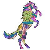 Grootgebracht paard stock illustratie