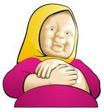 Grootmoeder (1) stock illustratie