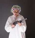 Grootmoeder in defensie royalty-vrije stock afbeelding