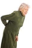 Grootmoeder die een riet houdt stock foto