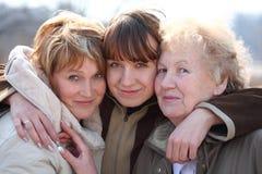 Grootmoeder, dochter en kleindochter Royalty-vrije Stock Foto's