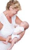 Grootmoeder en baby Royalty-vrije Stock Foto