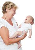 Grootmoeder en baby Royalty-vrije Stock Fotografie