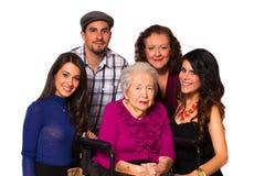 Grootmoeder en familie stock foto's