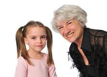 Grootmoeder en grandaughter Royalty-vrije Stock Afbeelding