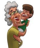 Grootmoeder en jongen Stock Fotografie