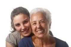 Grootmoeder en kleindochter Royalty-vrije Stock Afbeelding