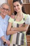 Grootmoeder en kleindochter Royalty-vrije Stock Foto