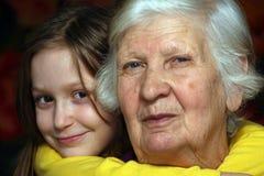 Grootmoeder en kleindochter Royalty-vrije Stock Fotografie