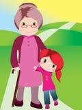 Grootmoeder en kleinkind Royalty-vrije Stock Foto's