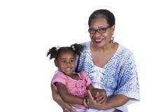 Grootmoeder en kleinkind Royalty-vrije Stock Fotografie