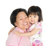 Grootmoeder en kleinkind stock afbeelding