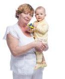 Grootmoeder met baby Royalty-vrije Stock Fotografie