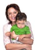 Grootmoeder met haar kleinzoon Royalty-vrije Stock Foto's