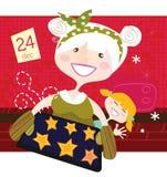 Grootmoeder met Kerstmiskoekjes vector illustratie