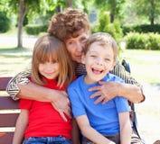 Grootmoeder met kleinkind royalty-vrije stock foto's