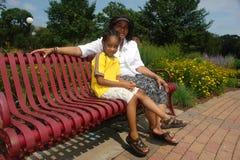 Grootouder en kleinkind Royalty-vrije Stock Fotografie
