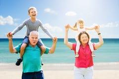 Grootouders die Pret met Hun Kleinkinderen hebben stock foto's