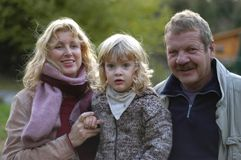 Grootouders en kleinkind Stock Foto