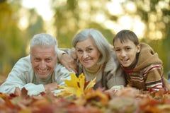 Grootouders en kleinzoon Stock Fotografie