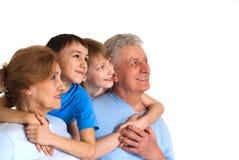 Grootouders met kleinkinderen Stock Fotografie