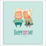 Grootoudersdag De grootouders koppelen Stock Afbeeldingen