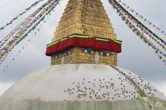 Grootste Boeddhistische stupa Stock Afbeeldingen