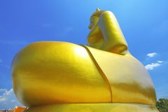 Grootste budda zit in Thailand Royalty-vrije Stock Foto's