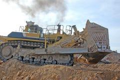 Grootste bulldozer ooit stock fotografie