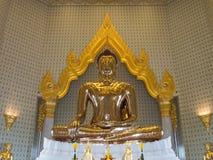 Grootste gouden Boedha in meditatieactie Stock Fotografie