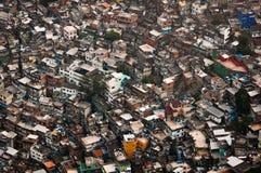 Grootste Krottenwijk in Zuid-Amerika, Rocinha, Rio de Janeiro, Brazilië royalty-vrije stock foto's
