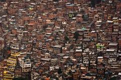 Grootste Krottenwijk in Zuid-Amerika, Rocinha, Rio de Janeiro, Brazilië stock fotografie