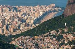 Grootste Krottenwijk in Zuid-Amerika, Rocinha, Rio de Janeiro, Brazilië stock foto's