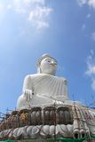 Grootste witte heilige Boedha in de wereld op Phuk Royalty-vrije Stock Afbeelding
