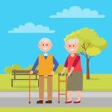 Grootvader en Grootmoeder Vectorillustratie stock illustratie