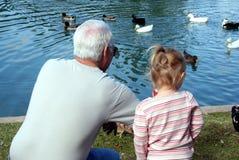 Grootvader en Kind royalty-vrije stock afbeeldingen